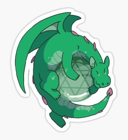 Aventurine Gemstone Dragon Sticker