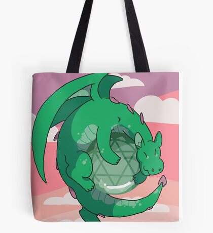 Aventurine Gemstone Dragon Tote Bag