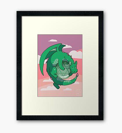 Aventurine Gemstone Dragon Framed Print