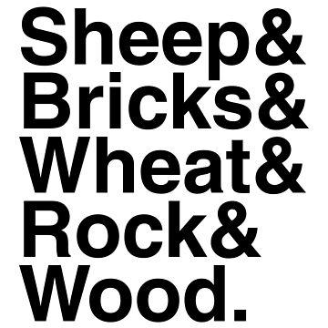 "Helvetica ""&"" - Sheep & Bricks & Wheat & Rock & Wood. by juryduty"