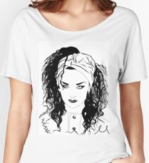 BOY GEORGE (Black & white vers.) Women's Relaxed Fit T-Shirt