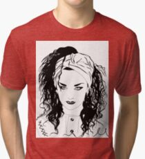 BOY GEORGE (Black & white vers.) Tri-blend T-Shirt