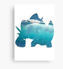 Mega Swampert used Hydro Pump Canvas Print