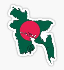 Bangladesh Map With Flag Sticker