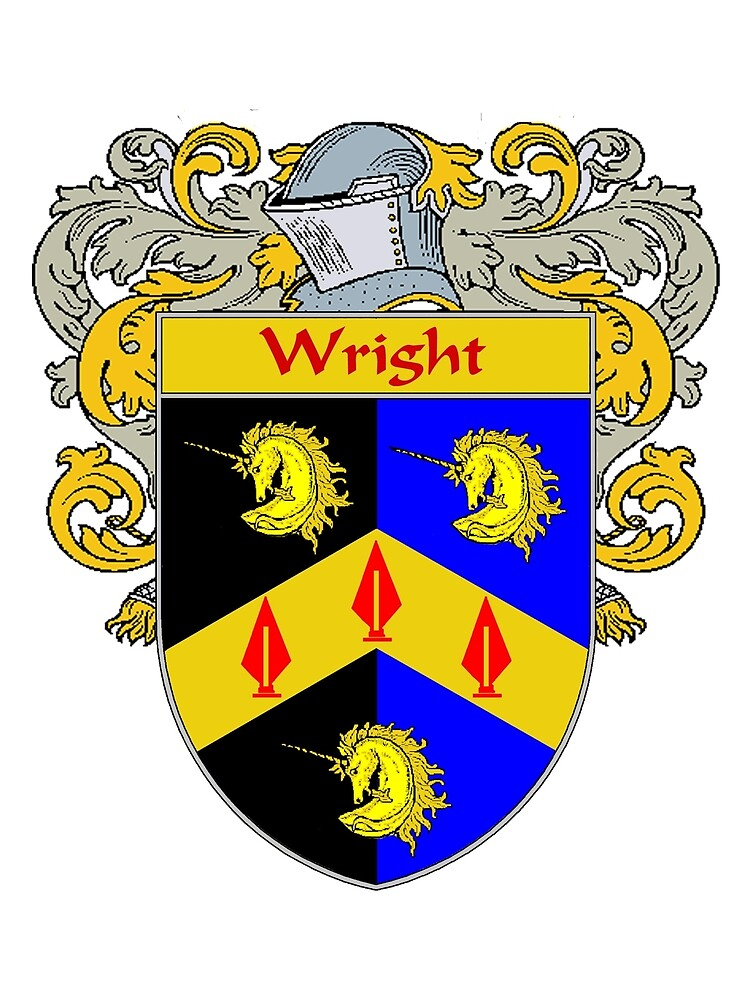 Wright Coat of Arms / Wright Family Crest by William Martin