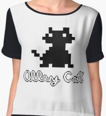 ALLEY CAT - DOS PC GAME Women's Chiffon Top