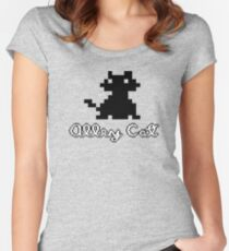 ALLEY CAT - DOS PC GAME Women's Fitted Scoop T-Shirt