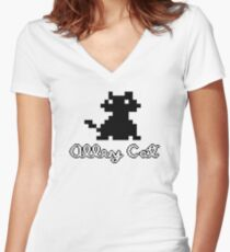 ALLEY CAT - DOS PC GAME Women's Fitted V-Neck T-Shirt