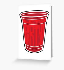 Red Cup Party by Tai's Tees Greeting Card
