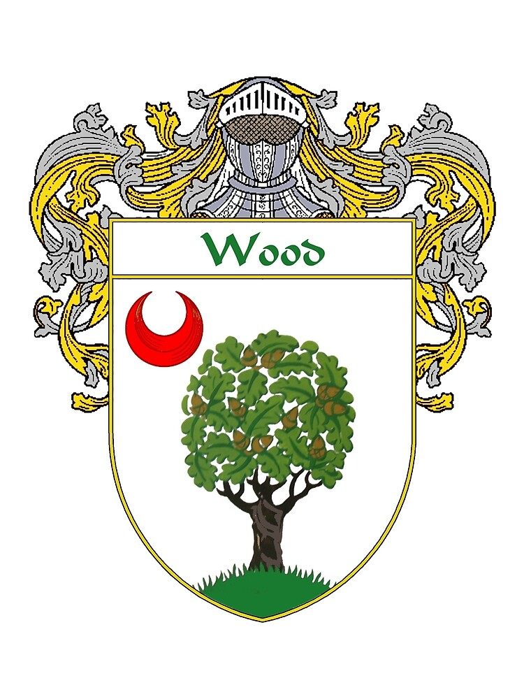 Wood Coat of Arms / Wood Family Crest by William Martin