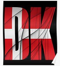 DK - Danmark Flag Poster