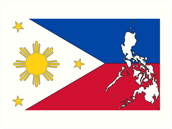 Philippines Map With Philippine Flag By Havocgirl