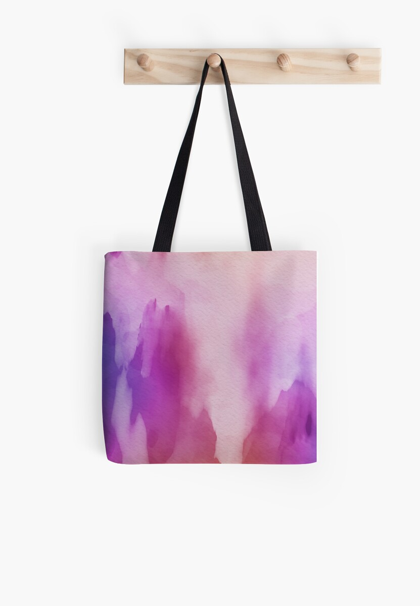 Pinks & Purple Watercolor Positive Space by futureimaging