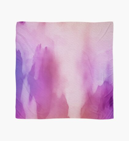 Pinks & Purple Watercolor Positive Space Scarf