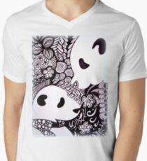Panda Love Men's V-Neck T-Shirt