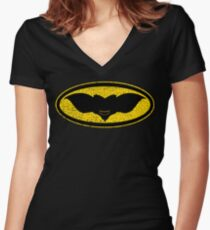 Gotham Gremlin (distressed) Women's Fitted V-Neck T-Shirt