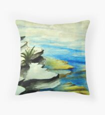 Rockpool ocean art Throw Pillow