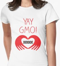 YAY GMO! 2 Tailliertes T-Shirt
