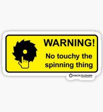 Touchy Sticker