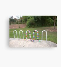 Knitted Worm Canvas Print