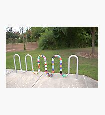 Knitted Worm Photographic Print