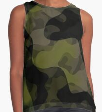 camo abstract Contrast Tank