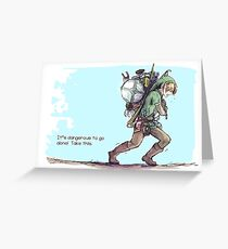 It's dangerous to go alone! Take this. Greeting Card