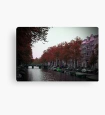 Canal View of Amsterdam Canvas Print