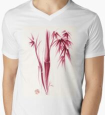 Inspiration - Sumie ink brush zen bamboo painting Mens V-Neck T-Shirt