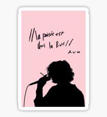 """the 1975 """"la poesie est dans la rue"""" Sticker"""