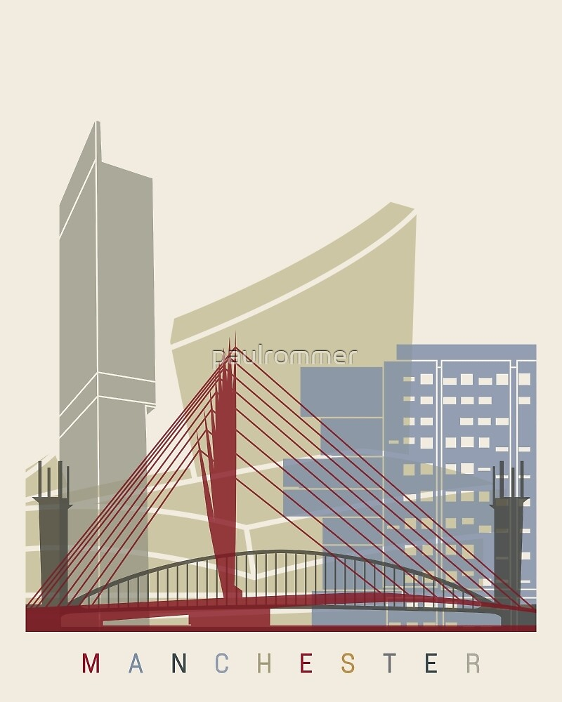 Manchester skyline poster by paulrommer