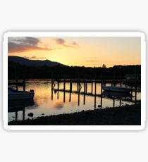 Sunset in the lakes Sticker