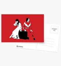 White Stripes Postkarten