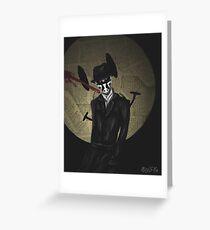 Rorschach-Watchmen Greeting Card