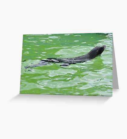 Water Angel Surfaced Greeting Card