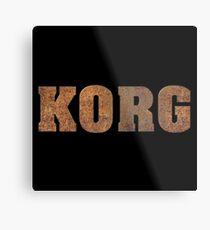 Rusty Korg Metal Print