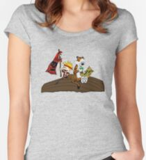 Calvin and Hobbes Adventure Women's Fitted Scoop T-Shirt