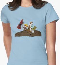 Calvin and Hobbes Adventure Women's Fitted T-Shirt