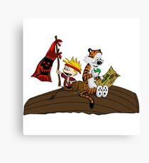 Calvin and Hobbes Adventure Canvas Print