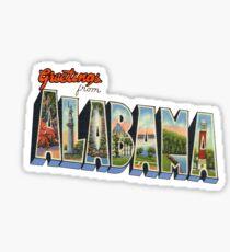 Greetings from Alabama Sticker