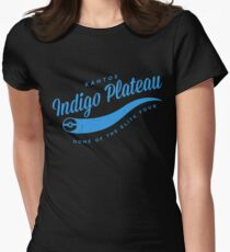 Indigo Plateau (blue) Womens Fitted T-Shirt