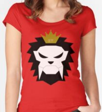 Sabre-toothed King Lion Skull - MulloIV Women's Fitted Scoop T-Shirt