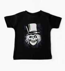 HATBOX GHOST WITH GRUNGY HAUNTED MANSION WALLPAPER Baby Tee