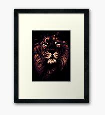 colored lion, indian lion Framed Print