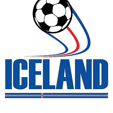 ICELAND Soccer T-shirt Icelandic Football Team Jersey by BuzzArtGraphics