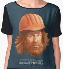 Maelstrom - Never Forget - Construction Worker Women's Chiffon Top