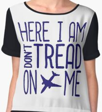 HERE I AM DON'T TREAD ON ME Chiffon Top