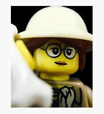 Lego Paleontologist Photographic Print