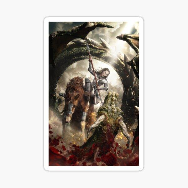 Saint Georgine and the Dragon Sticker