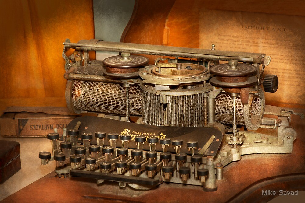 Steampunk - The history of typing by Michael Savad